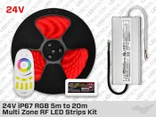 24V 5m to 20m iP67+ RGB 5050 LED Strip kit - 30 LEDs/m
