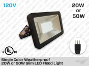 Single Color LED Flood Light 20 Watt or 50 Watt