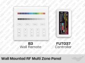 B3 Wall Mounted RF Multi Zone Panel and-or FUT037 Controller for RGB LED Strips