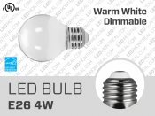 5W Dimmable E26 G16 SMD LED Light Bulb